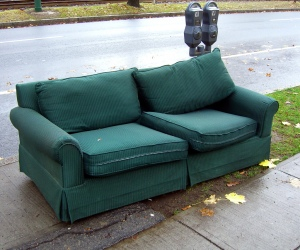Sofa left on curb