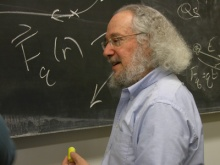 Joe Redish Teaching at the University of Maryland.  Photo by Emily Hanford