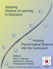 """Applying Science of Learning: Infusing Psychological Science into the Curriculum"" is available as a free download from http://teachpsych.org/Resources/Documents/ebooks/asle2014.pdf"
